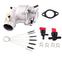 Podoy 390323 Carburetor for Briggs and Stratton with Cleaner Cleaning Tool Fuel Shut Off Valve Gasket 394228 7HP 8HP 9 HP Engine Lawn Mower