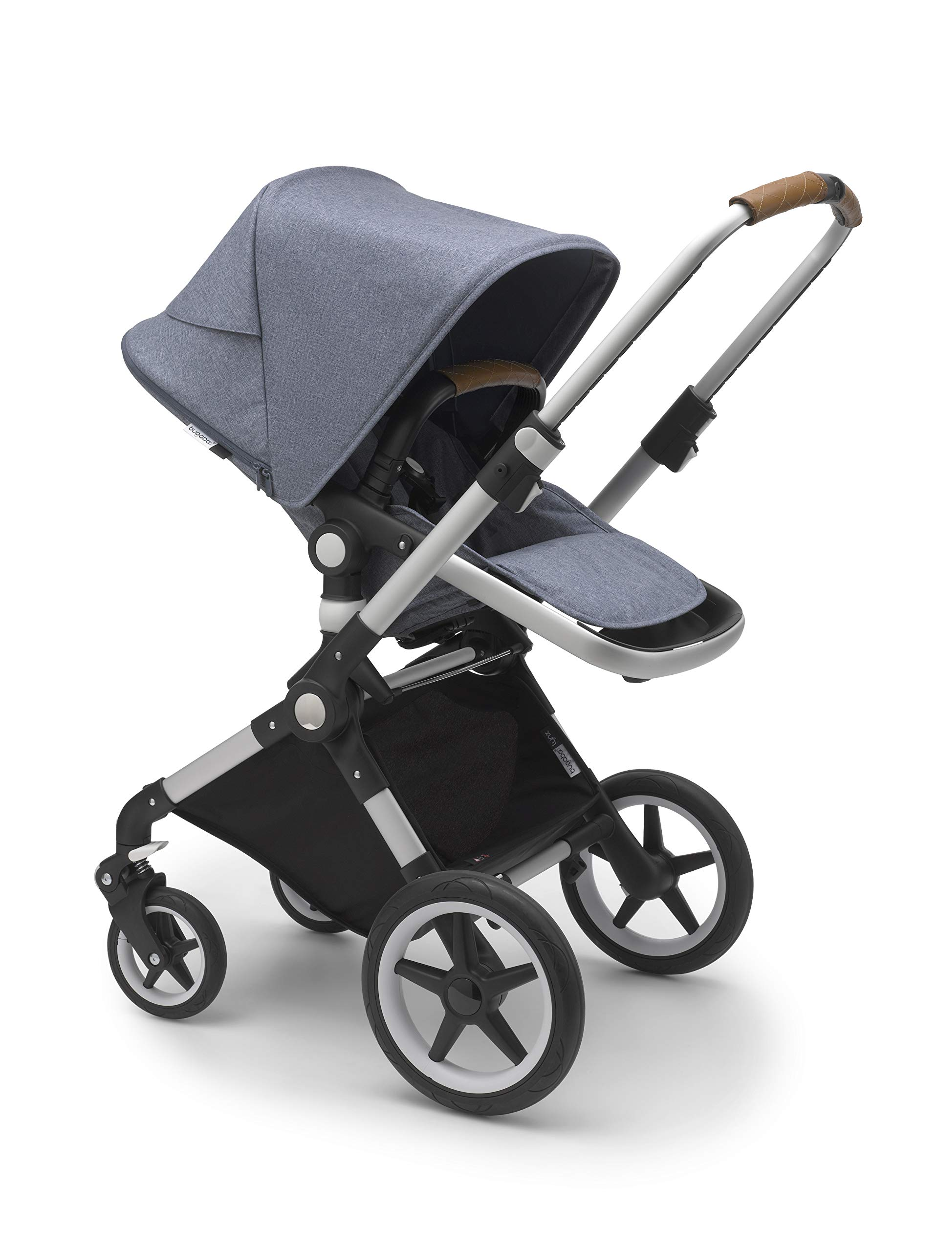Bugaboo Lynx - The Lightest Full-Size Baby Stroller - All-Terrain Stroller with an Effortless Push and One-Handed Steering - Compatible with Bugaboo Turtle by Nuna Car Seat - Alu/Blue Mélange