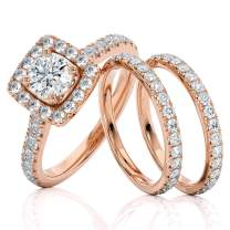 2 Carat Diamond Engagement Ring - IGI Certified 14 Karat Rose Gold Diamond Ring for Women Diamond Engagement Ring by Beverly Hills Jewelers