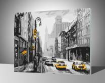 """Paint by Numbers for Adults with Frame by BANLANA, DIY Adult Paint by Number Kits for Beginners on Canvas Wooden Framed 16"""" by 20"""" (Street View of New York, Framed)"""