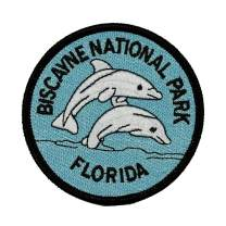 Biscayne National Park Patch Dolphins Travel Badge Embroidered Iron On Applique