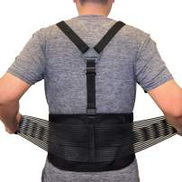 Back Brace For Lifting Lower Back Support For Work Y-Shape 3-Way Adjustable Suspenders Safety Belt With Dual Medical 3D Lumbar Support Relieve Pain, Prevent Injury - Size XL/XXL