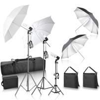 GloShooting Photography Lighting Umbrella Soft Kit, 600W Photo Portrait Daylight Continuous Lighting for Video Studio