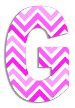 Stupell Home Décor Tri-Pink Chevron 18 Inch Hanging Wooden Initial, 12 x 0.5 x 18, Proudly Made in USA