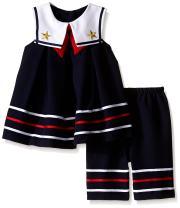Bonnie Baby Baby Girl's Nautical Dress and Legging Set
