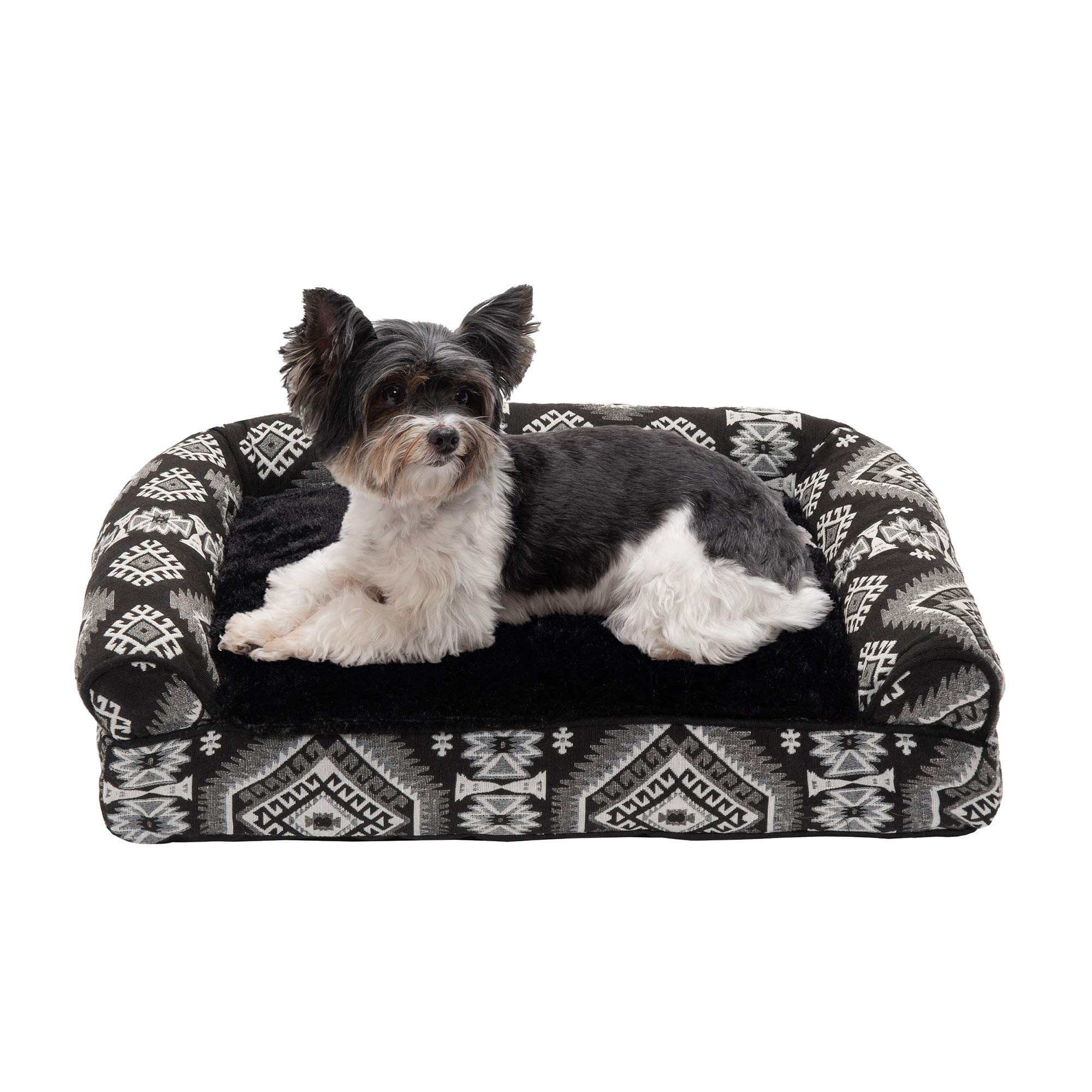 Furhaven Pet Dog Bed | Pillow Cushion Traditional Sofa & Deluxe Therapeutic Rectangular Foam Mattress Pet Bed w/ Removable Cover for Dogs & Cats - Available in Multiple Colors & Styles