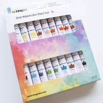 KINGART 515D-18 Studio Watercolor Paint, 12ml (.4oz), Set of 18 Colors, Assorted