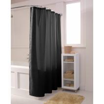 MAYTEX 7424001BLK Shower Liner, 70 inch x 72 inch, Black