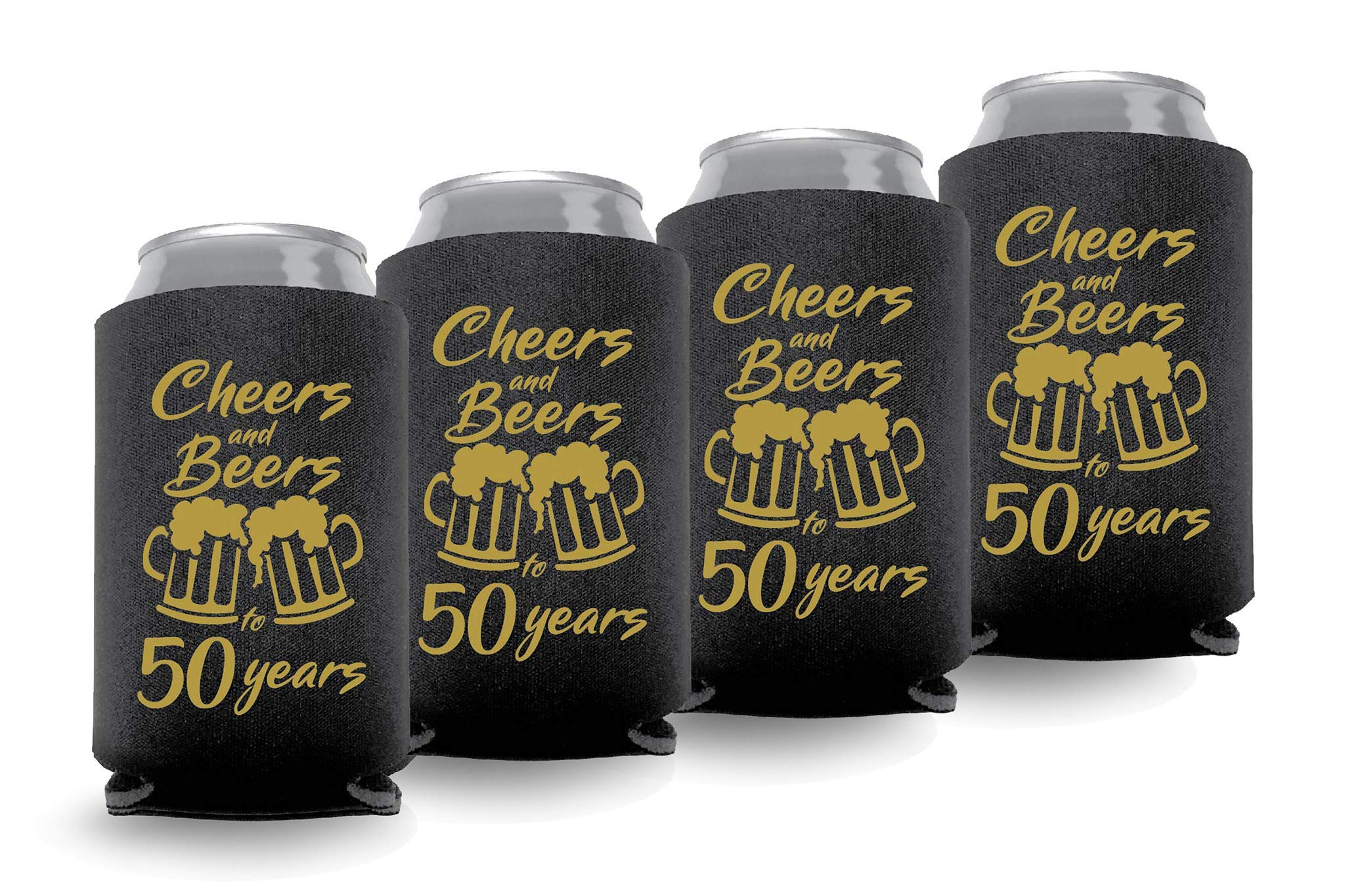 Coolies Can Coolers Collapsible Beer Soft Drinks Bottle Soda Sleeves Durable Insulators Premium Quality for Birthday Party 50 C&B Black Set of 6
