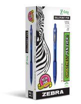 Zebra Pen Z-Grip Retractable Ballpoint Pen, Medium Point, 1.0mm, Blue Ink, 12-Count