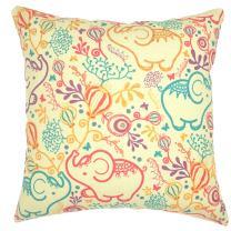 YOUR SMILE Color Elephant Cotton Linen Square Decorative Throw Pillow Case Cushion Cover 18x18 Inch(44CM44CM) Beige
