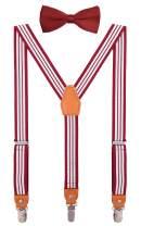 DEOBOX Children Bow Tie and Suspenders Set Adjustable for Wedding