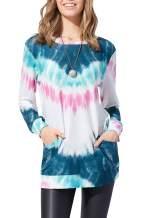 YANJUE Womens Sweatshirts Casual Tunic Tops Crewneck pullover Long Sleeve TShirts with Pocket