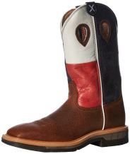 Twisted X Mens Lite Texas Flag Work Boots