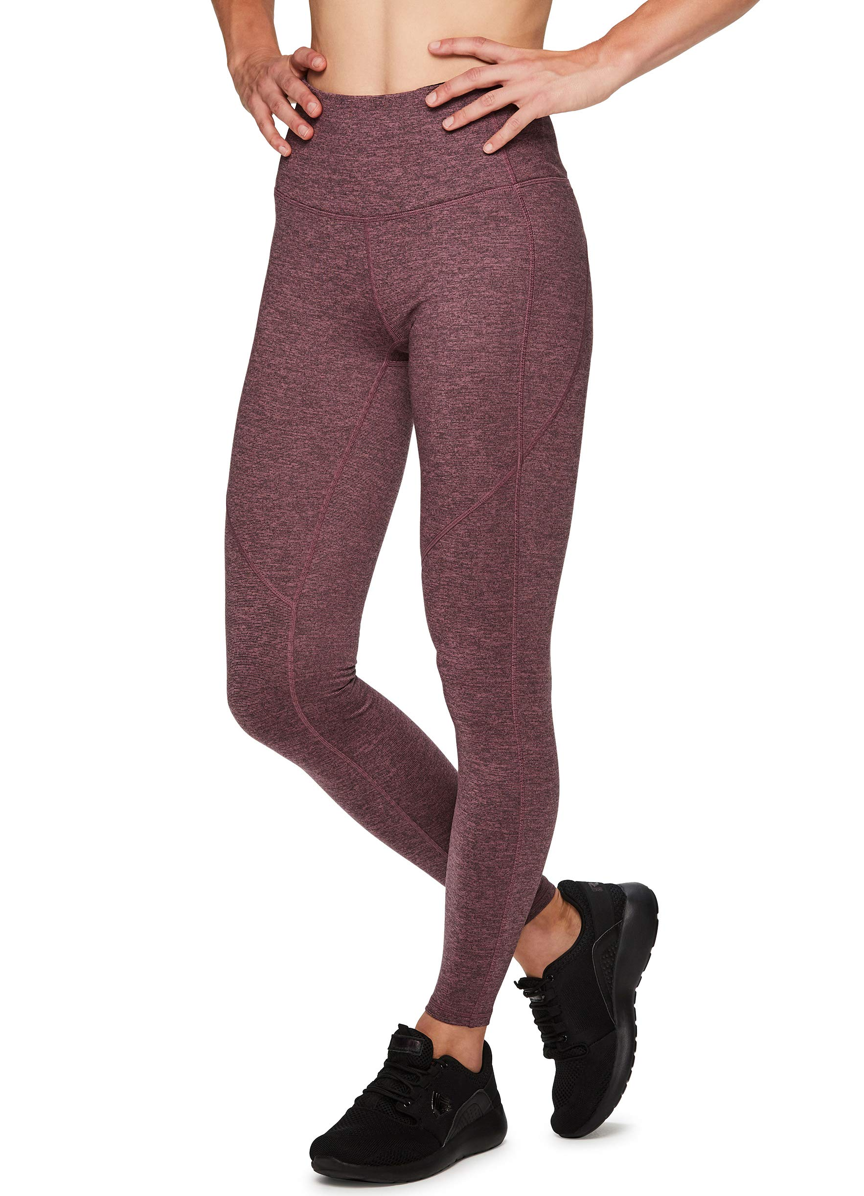 RBX Active Women's Super Soft Peached Space Dye Full Length Workout Running Yoga Legging