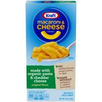 Kraft Macaroni and Cheese Dinner Made with Organic Pasta, Original Flavor, 6 Ounce Box (Pack of 12 Boxes)