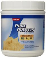 Pure Protein Powder, Whey, High Protein, Low Sugar, Gluten Free, Vanilla Cream, 1 lb