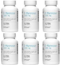 Alerna Kidney Health: D-Mannose (1000mg) with Organic Rose Hips and Cranberry Concentrate to Support Normal Urinary Tract Function - (6 Bottles)