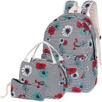 Middle School Backpack with Lunch Bag Pencil Case for Teen Girls Teenagers