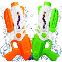 Water Guns 2 Pack Squirt Water Guns for Kids with 1200CC High Capacity, 35Ft Shooting Range for Summer Outdoor Party Water Blaster Fighting Play Toys for Boys Girls Adults