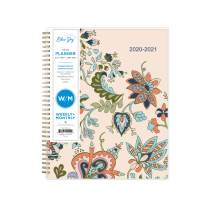"""Blue Sky 2020-2021 Academic Year Weekly & Monthly Planner, Flexible Cover, Twin-Wire Binding, 8.5"""" x 11"""", Fab Floral"""
