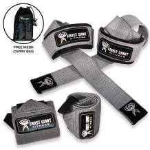 Premium Wrist Wraps Lifting Straps Bundle w/Carry Bag | Professional Grade Heavy Duty Hand and Wrist Support Weightlifting w/ 2 Year No Questions Asked Warranty