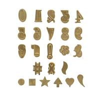 Walnut Hollow Hotstamps Number and Symbol 24 Piece Set for Branding and Personalization on Wood and Leather