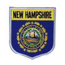 State Flag Shield New Hampshire Patch Badge Travel Embroidered Iron On Applique