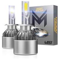 Mega Racer H7 LED Headlight Bulb All In One High Beam H7 Conversion Kit H7 Headlight Bulb 6000k LED Headlights 8000 Lumens 80W CREE COB C6 Xenon H7 Conversion Kit H7 LED Headlight Bulbs H7 Bulbs