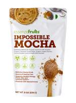 Vegan Mocha Latte Superfood - Clean Label Organic Ingredients, Energy Booster, Antioxidant, PreBiotic Fibers, Gluten Free, Dairy Free, Plant Based - Perfect for Shakes, Smoothies and Hot Lattes
