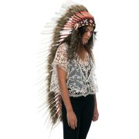 Extra Long Feather Headdress- Native American Indian Inspired - Classic White Duck