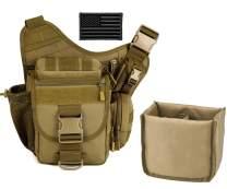 Protector Plus Tactical DSLR Camera Messenger Bag Military Sling Crossbody Pack Assault Range Chest Shoulder Backpack EDC Diaper Daypack (Insert Bag & Patch Included)