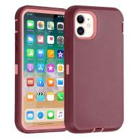 """Co-Goldguard iPhone 11 Case Heavy Duty Armor Rugged Cover Built-in Screen Protector Full Coverage 3 in 1 Reinforced Dust-Proof Shockproof Scratch Resistant Shell Fit for iPhone 11 6.1"""", Purple&Pink"""