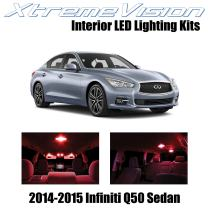 XtremeVision Interior LED for Infiniti Q50 Sedan 2014-2015 (10 Pieces) Red Interior LED Kit + Installation Tool