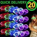 TURNMEON 20 Pack LED Glasses,5 Color Light Up Glasses Shutter Shades Glow Sticks Glasses Led Party Sunglasses Adults Kids Glow in The Dark Rave Party Supplies Favors Birthday Pool Neon Party Glow Toys