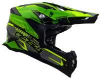 Vega Helmets unisex-adult Off-Road MCX Lightweight Fully Loaded Dirt Bike Helmet (Green Stinger Graphic, XS)