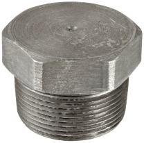 """Anvil 2142 Forged Steel High Pressure Pipe Fitting, Class 6000, Hex Head Plug, 1"""" NPT Male"""