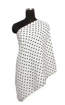 Bacati - 100 Percent Cotton Muslin (Nursing Scarf, Black Plus/Cross)