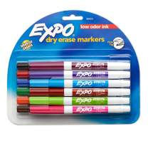 EXPO Low Odor Dry Erase Markers, Fine Tip, Assorted Colors, 12 Pack - 86603