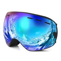 ReHaffe Snowboarding Goggles, Ski Goggles OTG Spherical Dual Lens Anti-Fog UV Protection Scratch Resistance for Men Women Teens to Winter Skiing Skating and Snowmobile