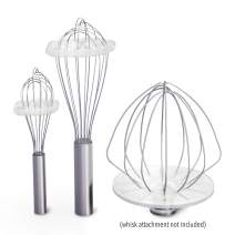 Whisk Wiper 5pc Bundle+ - Mix Without The Mess - Kitchen Accessory & Gift - Incl. Whisk Wiper PRO for Bowl-Lift Stand Mixer (for 6-wire whisk), Whisk Wiper + Whisk Wiper mini sets (Color: Clear)