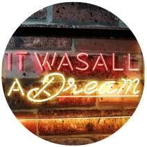 "ADVPRO It was All a Dream Home Décor Gift Dual Color LED Neon Sign Red & Yellow 16"" x 12"" st6s43-i3122-ry"