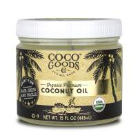 CocoGoodsCo Vietnam Single-Origin Organic Premium Coconut Oil, Centrifuge Extracted - Great for Hair and Nails Care, Skin Moisturizer (Home/Value Pack, 15 fl. oz Jar)