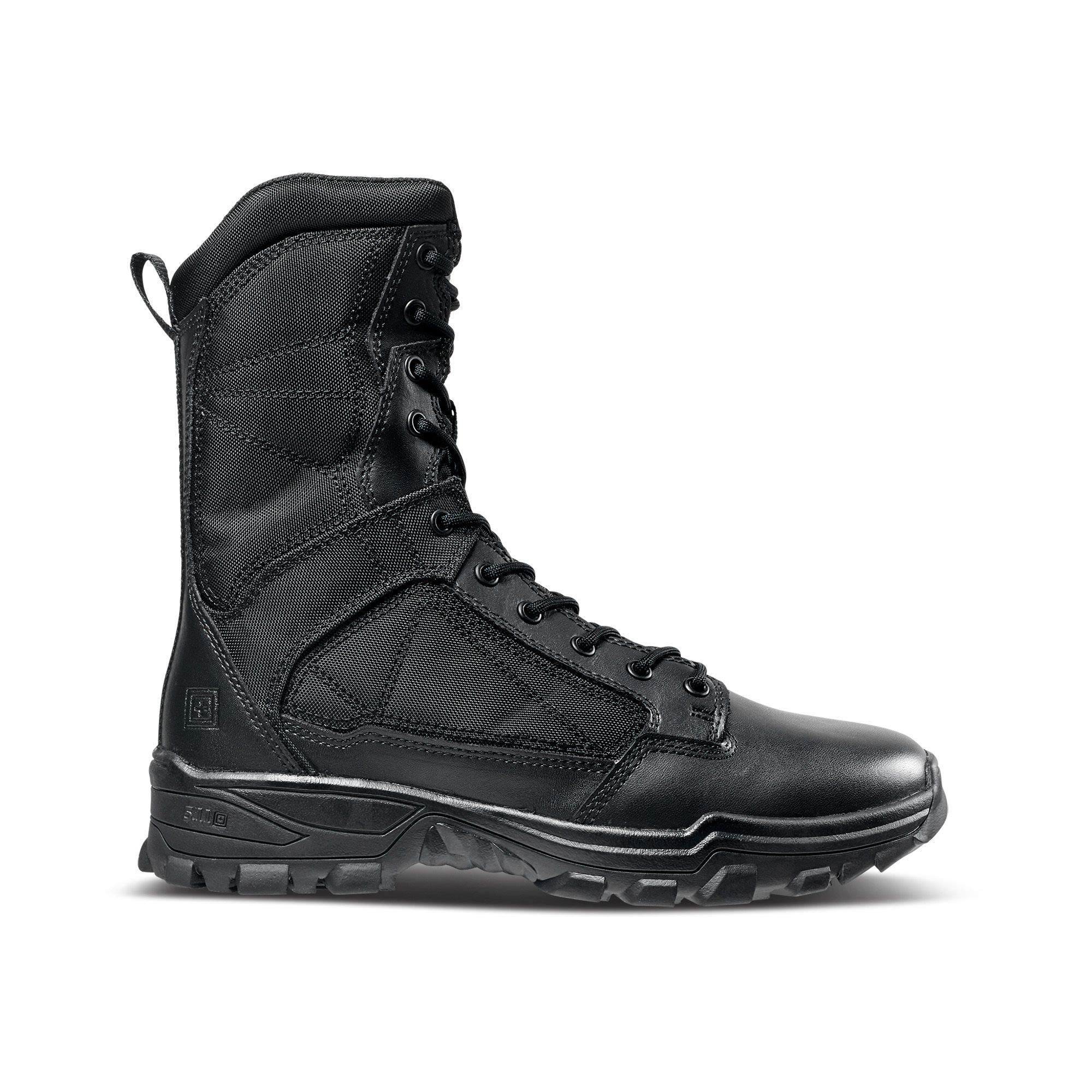 5.11 Tactical Men's Fast-Tac 8-Inch Leather Waterproof Combat Military Boots, Style 12387