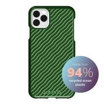 Ocean75 Eco-Friendly Designed for iPhone 11 Pro Max Case, Ocean-Inspired Sustainable Phone Cover Made from Recycled Fishing Nets – Turtle Green
