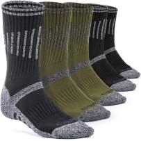 CQR 3 or 5 Pack Men's Multi Performance Outdoor Sports Hiking Trekking Crew Socks
