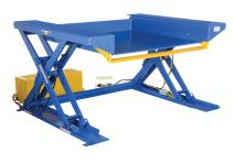 "Vestil EHLTG-4470-2-48 Ground Lift Scissor Table, 78"" x 67"" x 10"", 2,000 lb. Capacity"