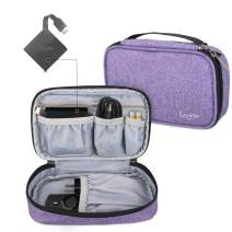 LUXJA Carrying Case Compatible with Amazon Fire TV, Storage Bag for Fire TV, Voice Remote and Other Accessories(Empty Case Only), Purple