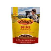 Zuke's Mini Naturals Training Dog Treats Peanut Butter and Oats Recipe - 6 Oz Bag