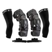 Ossur CTi Knee Brace Protection Set - Motocross Edition - Right and Left Sides, Patella Protector Cups, Gear Guards, Anti-Migration Wraps, Under-Sleeves and CTi Stickers (Medium)